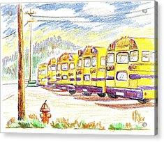 School Bussiness Acrylic Print