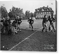 School Football Team, C.1930s Acrylic Print by H. Armstrong Roberts/ClassicStock