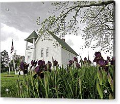 School House In The Country II Acrylic Print by Christine Belt