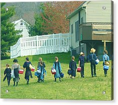 School Is Out Acrylic Print by Jeanette Oberholtzer