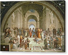 School Of Athens From The Stanza Della Segnatura Acrylic Print