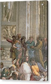 School Of Athens, From The Stanza Della Segnatura Acrylic Print by Raphael