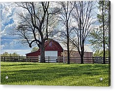 Acrylic Print featuring the photograph Schooler Road Barn by Cricket Hackmann