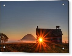 Acrylic Print featuring the photograph Schoolhouse Sunburst by Fiskr Larsen