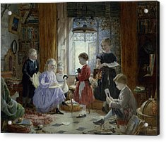Schooltime Acrylic Print by William Jabez Muckley