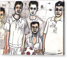 Schoolyard Chums Acrylic Print