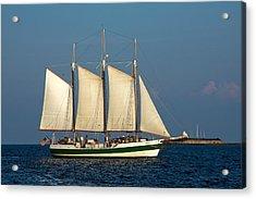 Schooner By Fort Sumter Acrylic Print