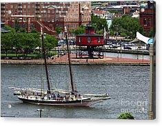 Schooner Lady Maryland Leaving Inner Harbor Baltimore Acrylic Print