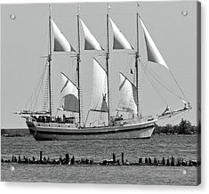Schooner On Lake Michigan No. 1-3 Acrylic Print