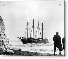 Schooner Shipwreck Acrylic Print by Underwood Archives