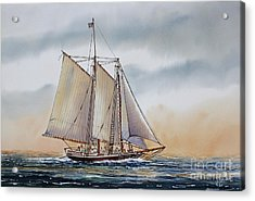 Schooner Stephen Taber Acrylic Print by James Williamson