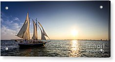 Schooner Welcome Sunset Charleston Sc Acrylic Print