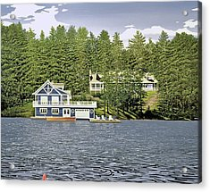 Acrylic Print featuring the painting Schultz Summer Home Muskoka by Kenneth M Kirsch