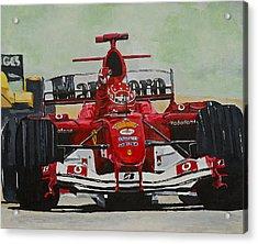 Schumacher Wins Acrylic Print by Terry Gill