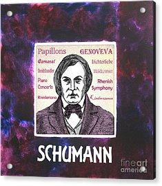 Schumann Acrylic Print by Paul Helm