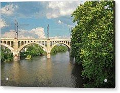 Schuylkill River At The Manayunk Bridge - Philadelphia Acrylic Print by Bill Cannon