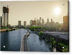 Acrylic Print featuring the photograph Schuylkill River Walk At Sunrise by Bill Cannon