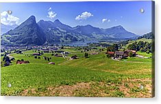 Schwyz And Zurich Canton View, Switzerland Acrylic Print