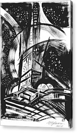 Sci Fi City Acrylic Print