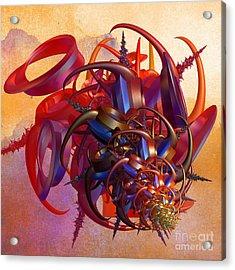 Sci-fi Insect Acrylic Print by Gaspar Avila