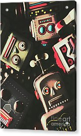 Science Fiction Robotic Faces Acrylic Print