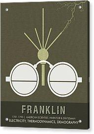 Science Posters - Benjamin Franklin - Scientist, Inventor, Statesman Acrylic Print