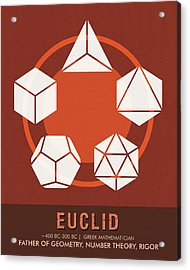 Science Posters - Euclid - Mathematician Acrylic Print