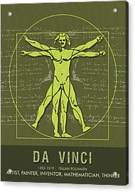 Science Posters - Leonardo Da Vinci - Artist, Inventor, Mathematician Acrylic Print