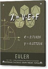 Science Posters - Leonhard Euler - Mathematician, Physicist, Engineer Acrylic Print by Studio Grafiikka
