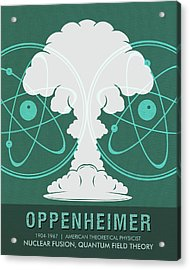 Science Posters - Robert Oppenheimer - Theoretical Physicist Acrylic Print