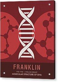 Science Posters - Rosalind Franklin - Chemist Acrylic Print