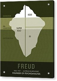 Science Posters - Sigmund Freud - Neurologist, Psychoanalyst Acrylic Print