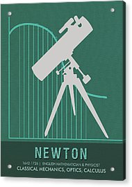 Science Posters - Sir Isaac Newton - Physicist, Mathematician, Astronomer Acrylic Print
