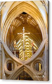 Scissor Arches, Wells Cathedral Acrylic Print