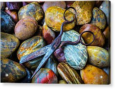 Scissors And Rocks Acrylic Print by Garry Gay