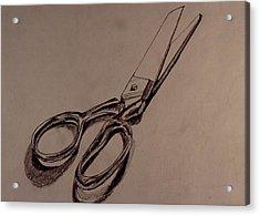 Scissors Acrylic Print by Chris  Riley