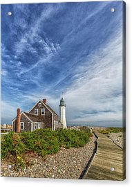 Scituate Lighthouse Boardwalk Acrylic Print