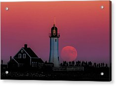 Scituate Supermoon Acrylic Print