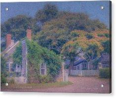 Sconset Cottages Nantucket Acrylic Print