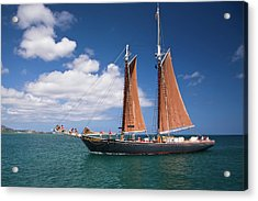 Scooner Acrylic Print by Diego Pagani