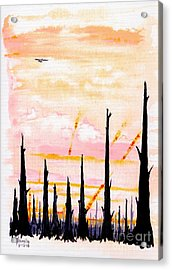 Scorched Acrylic Print