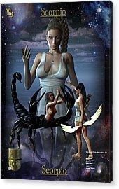 Scorpio Acrylic Print by Joseph Soiza