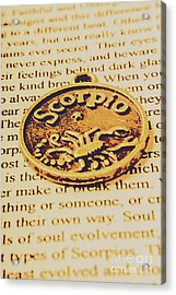 Scorpio Star Sign Token Acrylic Print by Jorgo Photography - Wall Art Gallery