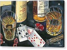 Scotch Cigars And Cards Acrylic Print