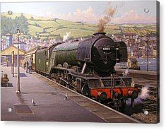 Scotsman At Kingswear Acrylic Print by Mike  Jeffries