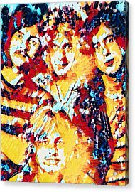 Led Zeppelin Abstract Acrylic Print by Scott Wallace