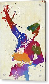 Scott Weiland Paint Splash Acrylic Print