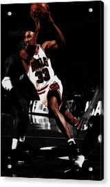 Scottie Pippen On The Move Acrylic Print by Brian Reaves