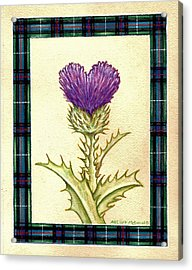 Scottish Heart Thistle Acrylic Print