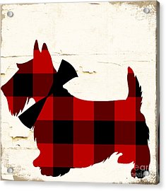 Scottish Terrier Tartan Plaid Acrylic Print by Mindy Sommers